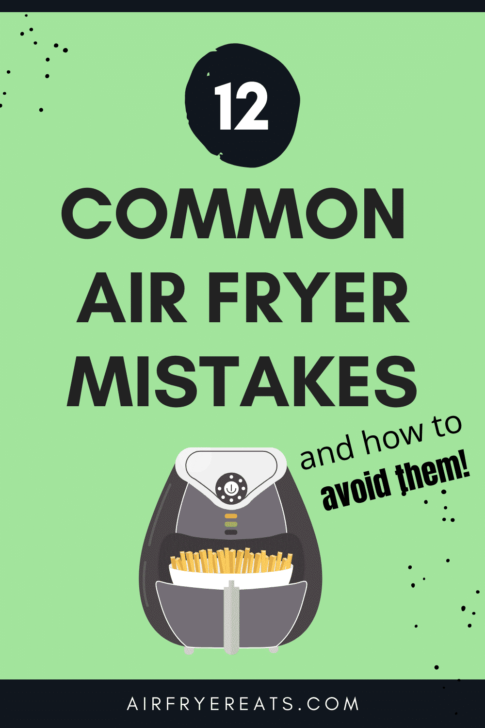 There are air fryer mistakes you could be making. Here are some ways you might be using your air fryer wrong and some delicious air fryer recipes to make things right! See which of these Common Air Fryer Mistakes you might be making. #airfryermistakes #airfryer via @vegetarianmamma