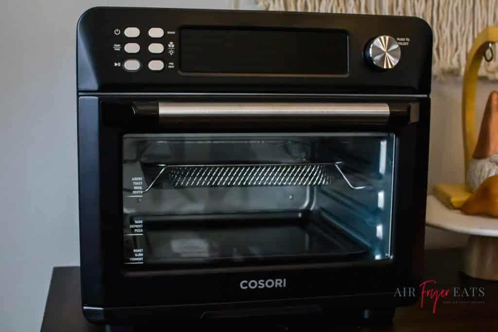 black cosori toaster oven pictured
