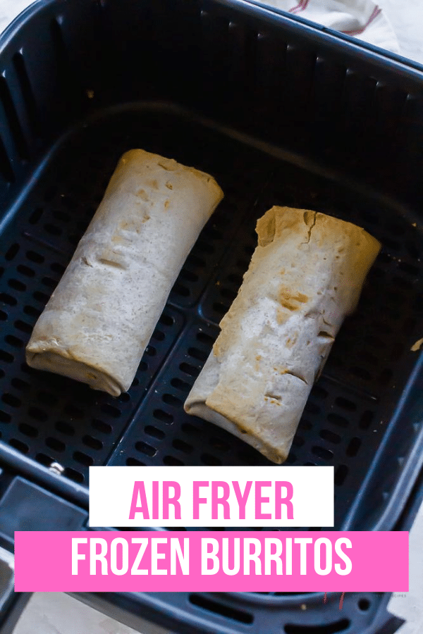 Air Fryer Frozen Burritos are a convenient and fast meal or snack to make for yourself or your family. Learn how to make the best frozen burritos in the air fryer with this simple method. #airfryer #frozenfood via @vegetarianmamma