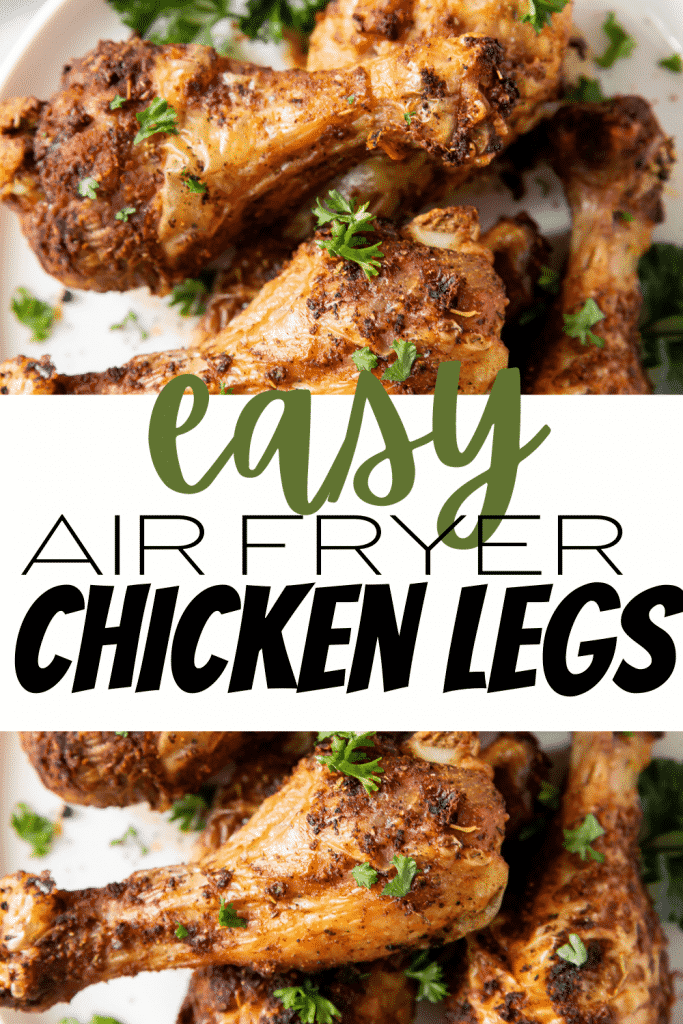 closeup of air fried chicken legs