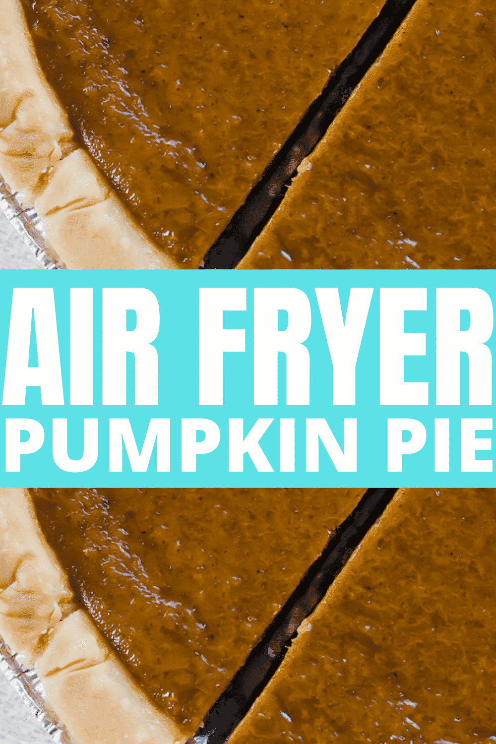 Spicy, sweet, and luscious air fryer pumpkin pie will be the easiest dessert you make this year. Skip the oven and bake a pumpkin pie in the air fryer instead. #pumpkinpie #airfryerpumpkinpie via @vegetarianmamma