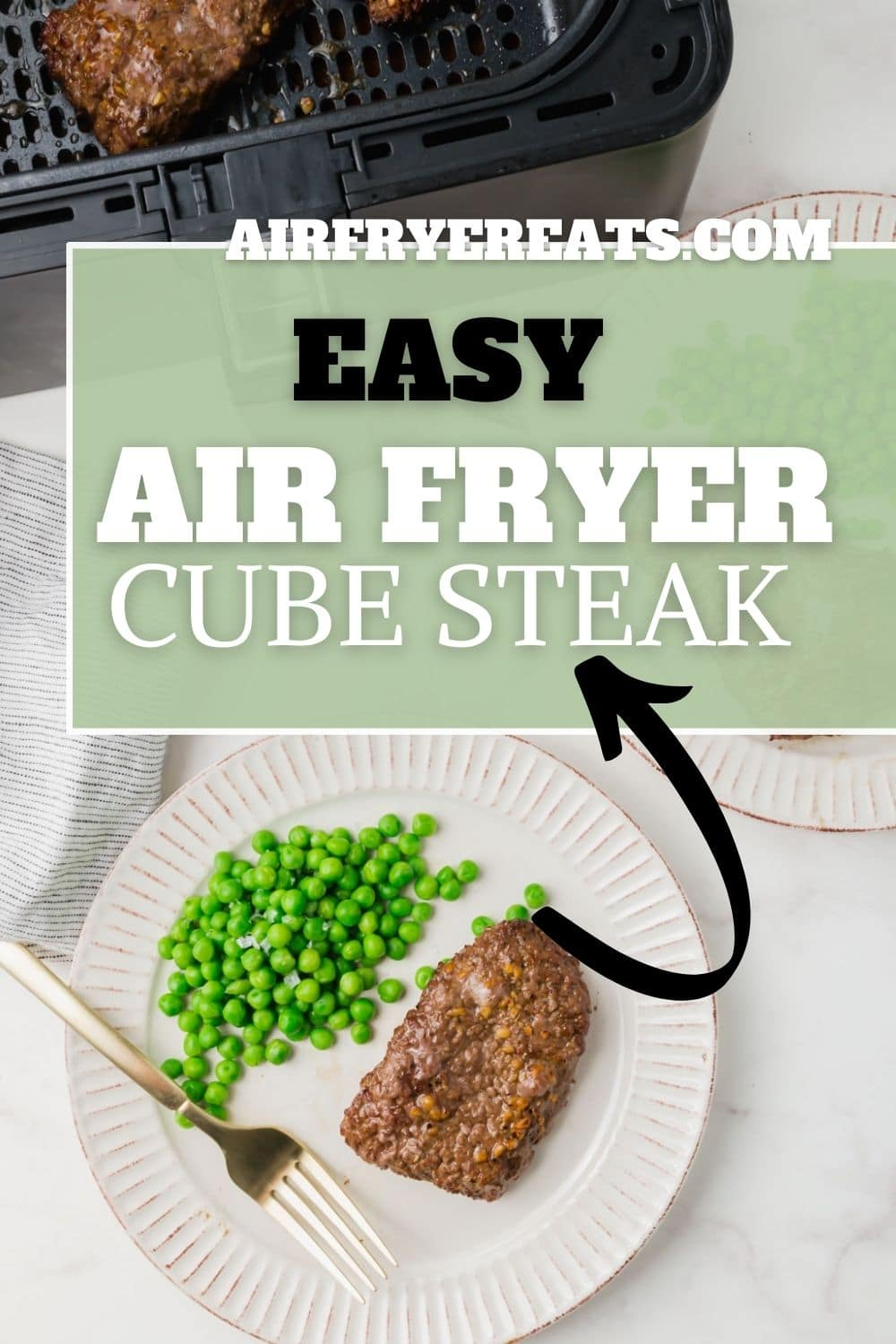 Make this savory marinated cube steak in your air fryer in a flash! We'll show you how to turn an inexpensive beef cut into a delicious dinner. via @vegetarianmamma